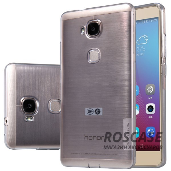 TPU чехол Nillkin Nature Series для Huawei Honor 5X / GR5 (Серый (прозрачный))Описание:производитель  - &amp;nbsp;Nillkin;совместимость: Huawei Honor X5 / GR5;материал  -  термополиуретан;форма  -  накладка.&amp;nbsp;Особенности:в наличии все вырезы;прозрачный;не увеличивает габариты;защита от ударов и царапин;на накладке не видны &amp;laquo;пальчики&amp;raquo;.<br><br>Тип: Чехол<br>Бренд: Nillkin<br>Материал: TPU