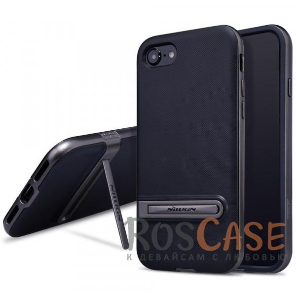 Стильно-модно-молодёжный чехол с подставкой для Apple iPhone 7 / 8 (4.7) (Черный)Описание:бренд&amp;nbsp;Nillkin;совместим с Apple iPhone 7 / 8 (4.7);материалы - термополиуретан, поликарбонат;функция подставки;свойство анти-отпечатки;защита камеры от царапин;все вырезы предусмотрены;кнопки защищены.<br><br>Тип: Чехол<br>Бренд: Nillkin<br>Материал: Пластик