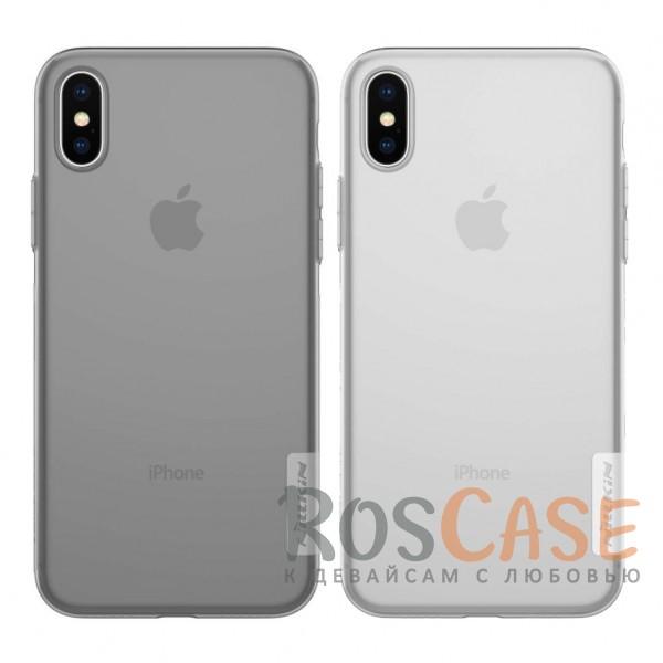 Мягкий прозрачный силиконовый чехол Nillkin Nature для Apple iPhone X (5.8)Описание:бренд:&amp;nbsp;Nillkin;совместимость: Apple iPhone X (5.8);материал: термополиуретан;тип: накладка;ультратонкий дизайн;прозрачный корпус;не скользит в руках;защищает от механических повреждений.<br><br>Тип: Чехол<br>Бренд: Nillkin<br>Материал: TPU