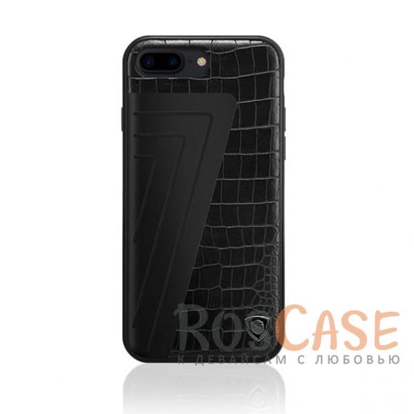Кожаная накладка Nillkin Hybrid Series для Apple iPhone 7 plus (5.5) (Черный (Crocodile))Описание:произведено брендом&amp;nbsp;Nillkin;совместимость - Apple iPhone 7 plus (5.5);материалы: поликарбонат, термополиуретан, металл, искусственная кожа;тип: накладка.&amp;nbsp;Особенности:оригинальный дизайн;вставка с фактурой крокодиловой кожи;двухцветный стиль;анти-отпечатки;не скользит в руках;защищает заднюю панель и боковые грани.<br><br>Тип: Чехол<br>Бренд: Nillkin<br>Материал: Натуральная кожа