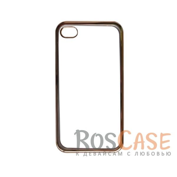 Прозрачный силиконовый чехол для Apple iPhone 4/4S с глянцевой окантовкой (Золотой)Описание:совместим с Apple iPhone 4/4S;материал - термополиуретан;тип - накладка.<br><br>Тип: Чехол<br>Бренд: Epik<br>Материал: TPU