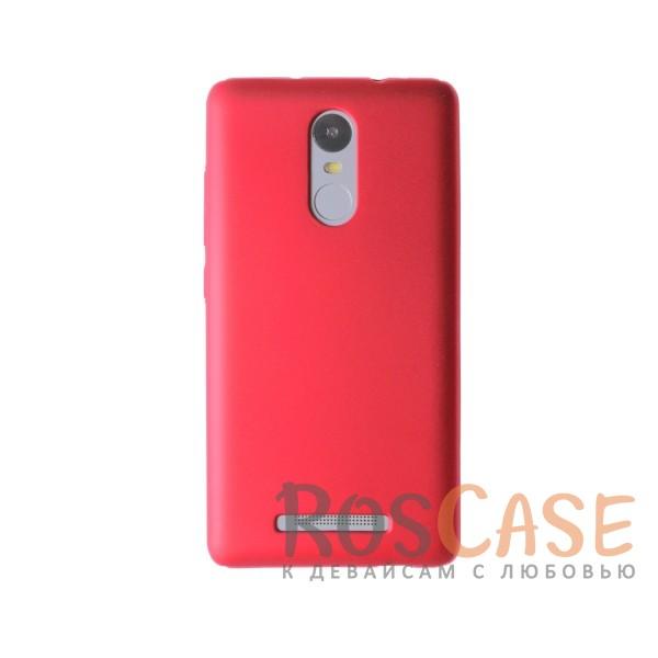 Пластиковая накладка soft-touch с защитой торцов Joyroom для Xiaomi Redmi Note 3/Redmi Note 3 Pro (Красный)<br><br>Тип: Чехол<br>Бренд: Epik<br>Материал: Пластик