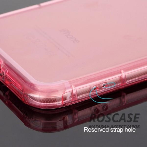 """Фотография Розовый / Transparent pink ROCK Fence   Прозрачный чехол для Apple iPhone 7 / 8 (4.7"""") из силикона"""
