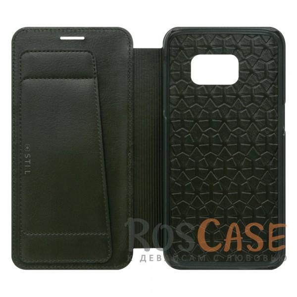 Кожаный чехол-книжка STIL Spiga Series для Samsung G930F Galaxy S7 (+ карман для визиток) (Хаки)Описание:создан компанией&amp;nbsp;STIL;разработан с учетом особенностей Samsung G930F Galaxy S7;материалы - натуральная кожа, полиуретан;тип - чехол-книжка.Особенности:слот для визиток;плетеная фактура обложки;плотно садится на корпус устройства;доступ ко всем функциям гаджета благодаря точным вырезам;защита от царапин и ударов со всех сторон;размеры - 146*76*17 мм, 68&amp;nbsp;гр.<br><br>Тип: Чехол<br>Бренд: Stil<br>Материал: Натуральная кожа