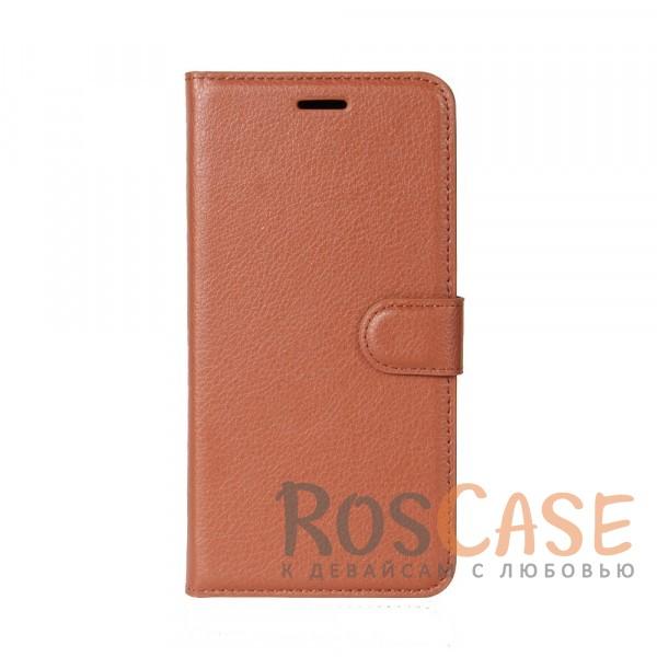 Гладкий кожаный чехол-бумажник на магнитной застежке Wallet с функцией подставки и внутренними карманами для Xiaomi Mi Max 2 (Коричневый)Описание:совместимость -&amp;nbsp;Xiaomi Mi Max 2;материалы  -  искусственная кожа, TPU;форма  -  чехол-книжка;фактурная поверхность;предусмотрены все функциональные вырезы;кармашки для визиток/кредитных карт/купюр;магнитная застежка;защита от механических повреждений.<br><br>Тип: Чехол<br>Бренд: Epik<br>Материал: Искусственная кожа