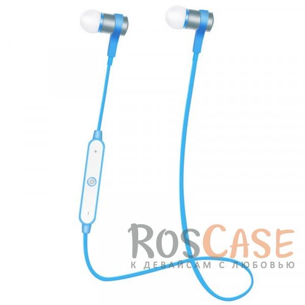 Спортивные беспроводные наушники bluetooth с пультом управления и микрофоном (s6-1) (Синий)Описание:универсальная совместимость;подключения - bluetooth;тип  -  вакуумные наушники.&amp;nbsp;Особенности:микрофон, пульт управления;полное сопротивление: 16 Ом;чувствительность  -  96 Дб;частотный отклик  -  20-20000 Гц;дальность действия - до 10 метров;время работы в режиме воспроизведения музыки  -  4-5 часов;время зарядки  -  2 часа;съемное крепление на уши;в комплекте футляр для наушников, запасные амбушюры.<br><br>Тип: Наушники/Гарнитуры<br>Бренд: Epik