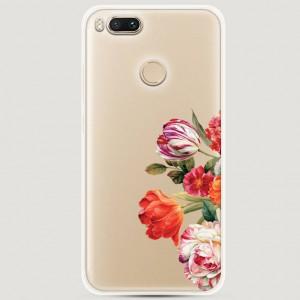 RosCase | Силиконовый чехол Весенний букет на Xiaomi Mi 5X