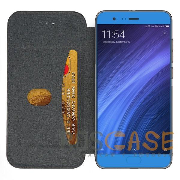 Изображение Ярко-коричневый Open Color 2 | Чехол-книжка на магните для Xiaomi Mi Note 3 с подставкой и внутренним карманом