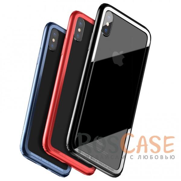Тонкий силиконовый бампер Baseus Hard And Soft с прочными пластиковыми бортиками для защиты экрана для Apple iPhone X (5.8)Описание:бренд - Baseus;материалы - термополиуретан, пластик;совместимость -&amp;nbsp;Apple iPhone X (5.8);формат - бампер;защита всех граней;предусмотрены все вырезы;выступающие бортики.<br><br>Тип: Чехол<br>Бренд: Baseus<br>Материал: TPU