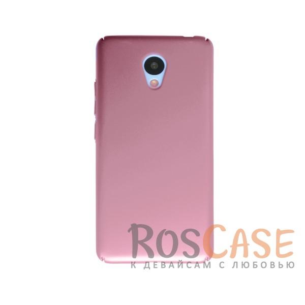 Пластиковая накладка soft-touch с защитой торцов Joyroom для Meizu M3 / M3 mini / M3s (Розовый)<br><br>Тип: Чехол<br>Бренд: Epik<br>Материал: Пластик