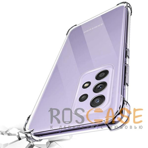 Фотография Прозрачный King Kong | Противоударный прозрачный чехол для Samsung Galaxy A72 с защитой углов