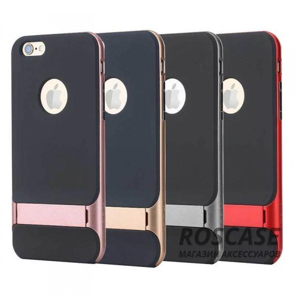 TPU+PC чехол Rock Royce Series с функцией подставки для Apple iPhone 6/6s (4.7)Описание:изготовитель: компания Rock;совместимость: смартфоны Apple iPhone 6/6s;произведен из термопластичного полиуретана и качественного поликарбоната;тип крепления: накладка;поверхность: частично матовая, частично глянцевая.Особенности:защищает от повреждений при падениях;имеет двойную конструкцию;имеет функцию подставки;позиционируется как аксессуар с интересным нетривиальным дизайном.<br><br>Тип: Чехол<br>Бренд: ROCK<br>Материал: TPU