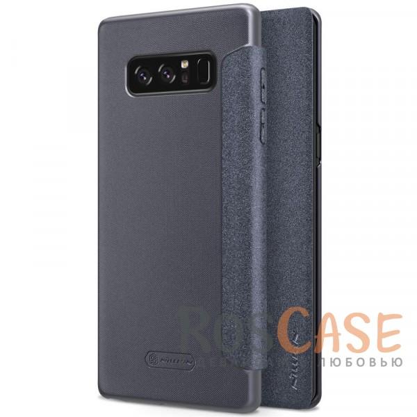 Защитный чехол-книжка для Samsung Galaxy Note 8 (Черный)Описание:от компании&amp;nbsp;Nillkin;спроектирован для Samsung Galaxy Note8;материалы: поликарбонат, искусственная кожа;блестящая поверхность;не скользит в руках;предусмотрены все необходимые вырезы;защита со всех сторон;тип: чехол-книжка.<br><br>Тип: Чехол<br>Бренд: Nillkin<br>Материал: Искусственная кожа