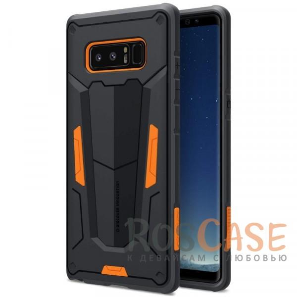 Ударопрочный двухслойный пластиковый чехол для Samsung Galaxy Note 8 (Оранжевый)Описание:производитель  - &amp;nbsp;Nillkin;чехол разработан для использования с Samsung Galaxy Note 8;материал  -  термополиуретан, поликарбонат;тип  -  накладка;ударопрочная конструкция;цветные вставки;защита боковых кнопок;предусмотрены все функциональные вырезы.<br><br>Тип: Чехол<br>Бренд: Nillkin<br>Материал: Поликарбонат