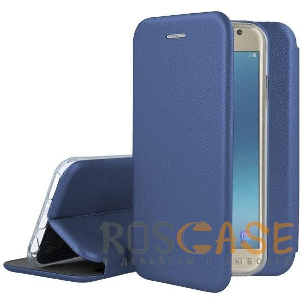 Изображение Синий Open Color | Чехол-книжка для Samsung A520 Galaxy A5 (2017) с функцией подставки и магнитом