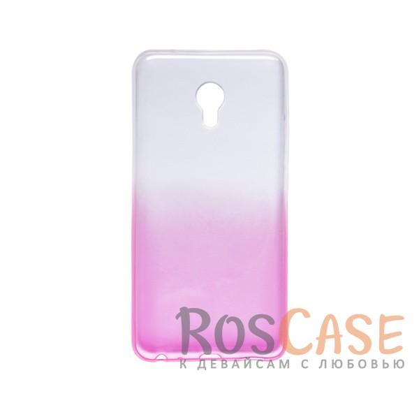 Прозрачный TPU чехол с цветным градиентом для Meizu MX6 (Розовый)<br><br>Тип: Чехол<br>Бренд: Epik<br>Материал: TPU