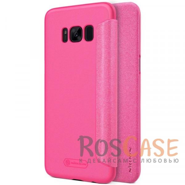 Защитный чехол-книжка для Samsung G955 Galaxy S8 Plus (Розовый)Описание:бренд&amp;nbsp;Nillkin;спроектирован для Samsung G955 Galaxy S8 Plus;материалы: поликарбонат, искусственная кожа;блестящая поверхность;не скользит в руках;предусмотрены все необходимые вырезы;защита со всех сторон;тип: чехол-книжка.<br><br>Тип: Чехол<br>Бренд: Nillkin<br>Материал: Искусственная кожа