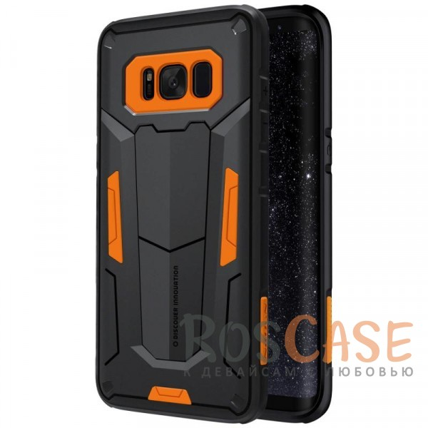 Ударопрочный двухслойный пластиковый чехол для Samsung G950 Galaxy S8 (Оранжевый)Описание:производитель  - &amp;nbsp;Nillkin;чехол разработан для использования с Samsung G950 Galaxy S8;материал  -  термополиуретан, поликарбонат;тип  -  накладка;ударопрочная конструкция;цветные вставки;защита боковых кнопок;предусмотрены все функциональные вырезы.<br><br>Тип: Чехол<br>Бренд: Nillkin<br>Материал: Поликарбонат