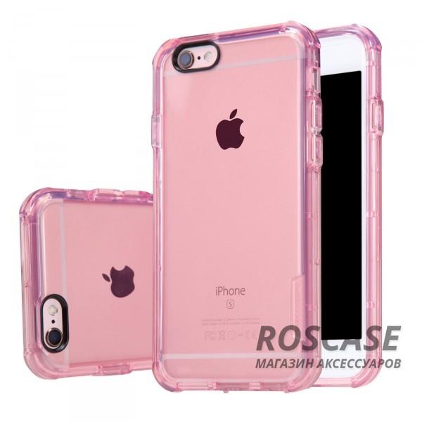 Прозрачный силиконовый чехол Nillkin Crashproof с защитой граней от ударов для Apple iPhone 6/6s (4.7) (Розовый (прозрачный))Описание:компания  - &amp;nbsp;Nillkin;совместим с Apple iPhone 6/6s (4.7);материал  -  термополиуретан;формат  -  накладка.&amp;nbsp;Особенности:заглушки для функциональных отверстий;выступы над экраном и камерой;ударопрочный;защита от ударов, пыли и царапин;прозрачный.<br><br>Тип: Чехол<br>Бренд: Nillkin<br>Материал: TPU