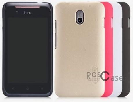 Чехол Nillkin Matte для HTC Desire 210 (+ пленка)HTC Desire 210<br>Описание:компания-производитель  -  Nillkin;разработан исключительно для HTC Desire 210;материал  -  пластик;форма  -  накладка.&amp;nbsp;Особенности:ребристая поверхность;имеет все необходимые функциональные вырезы;легко чистится;тонкий дизайн;защищает от механических повреждений;пленка в комплекте;не скользит в руках.<br><br>Тип: Чехол<br>Бренд: Nillkin<br>Материал: Поликарбонат
