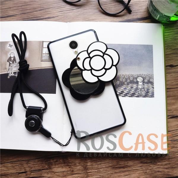 TPU+PC чехол с зеркалом Beauty flower для Meizu M3 / M3 mini / M3s (Белые Цветы)<br><br>Тип: Чехол<br>Бренд: Epik<br>Материал: TPU