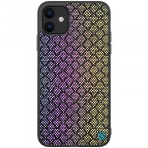 Nillkin Twinkle Rainbow | Чехол с текстурной тканевой вставкой для iPhone 11