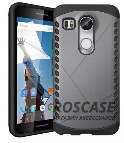 Противоударный защитный чехол Armor для LG Google Nexus 5x с усиленным прорезиненным бампером (Серый)Описание:совместимость: LG Google Nexus 5x;форм-фактор: накладка;материал: термополиуретан, поликарбонат.Преимущества:устойчив к повреждениям;не скользит в руках;эргономичный;легко очищается;защита боковых панелей;амортизация;надежная фиксация;стильный дизайн.<br><br>Тип: Чехол<br>Бренд: Epik<br>Материал: TPU