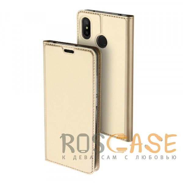 Фото Золотой Dux Ducis | Чехол-книжка для Xiaomi Mi A2 Lite / Xiaomi Redmi 6 Pro с функцией подставки и картхолдером