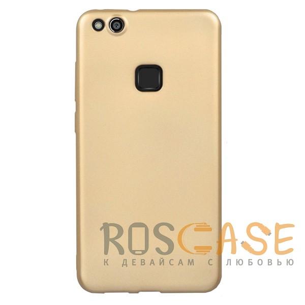 Фото Золотой J-Case THIN | Гибкий силиконовый чехол для Huawei P10 Lite