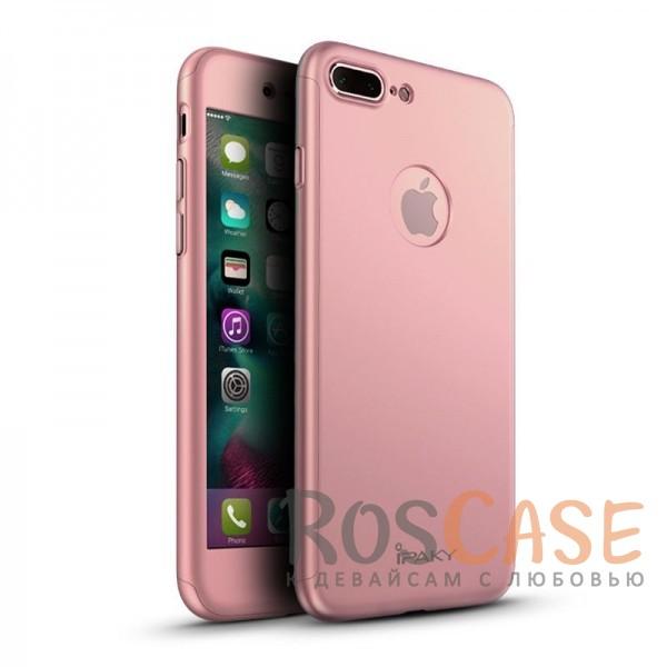 Чехол iPaky 360 градусов для Apple iPhone 7 plus (5.5) (+ стекло на экран) (Rose Gold)Описание:производитель: iPaky;совместим с Apple iPhone 7 plus (5.5);материалы для изготовления: поликарбонат и каленое стекло;форм-фактор: накладка.Особенности:надежная защита: чехол, бампер, стекло;высокий уровень износостойкости и прочности;ультратонкий, не увеличивает визуально объем;легко фиксируется;легко очищается.<br><br>Тип: Чехол<br>Бренд: Epik<br>Материал: Пластик