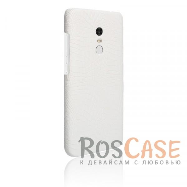 Кожаный чехол с узором из крокодиловой кожи Croc Series для Xiaomi Redmi Note 4 (Белый)<br><br>Тип: Чехол<br>Бренд: Epik<br>Материал: Искусственная кожа
