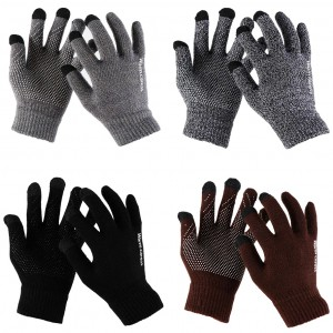 Warm caress | Емкостные перчатки утепленные (нескользящие) для Asus Zenfone 3 Laser (ZC551KL)
