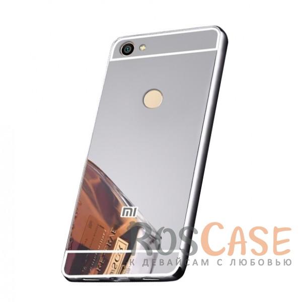 Защитный металлический бампер с зеркальной вставкой для Xiaomi Redmi Note 5A Prime / Y1 (Серебряный)Описание:разработан для Xiaomi Redmi Note 5A Prime / Y1;материалы - металл, акрил;тип - бампер с задней панелью;зеркальная поверхность;металлический бампер;защита от царапин и ударов.<br><br>Тип: Чехол<br>Бренд: Epik<br>Материал: Металл