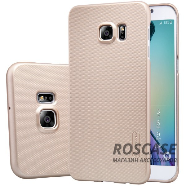 Чехол Nillkin Matte для Samsung Galaxy S6 Edge Plus (+ пленка) (Золотой)Описание:производитель -&amp;nbsp;Nillkin;материал - поликарбонат;совместим с Samsung Galaxy S6 Edge Plus;тип - накладка.&amp;nbsp;Особенности:матовый;прочный;тонкий дизайн;не скользит в руках;не выцветает;пленка в комплекте.<br><br>Тип: Чехол<br>Бренд: Nillkin<br>Материал: Поликарбонат