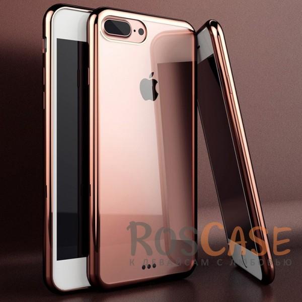 """Фотография Розовый Силиконовый чехол для Apple iPhone 7 plus / 8 plus (5.5"""") с глянцевой окантовкой"""