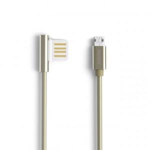 Remax Emperor | Дата кабель USB to MicroUSB с угловым штекером USB (100 см) для Samsung Galaxy S8 (G950)