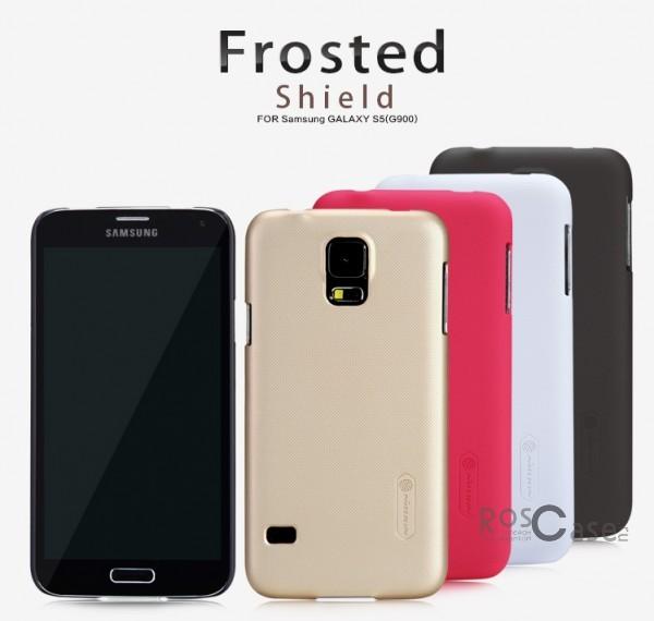 Чехол Nillkin Matte для Samsung G900 Galaxy S5 (+ пленка)Описание:Изготовлен компанией Nillkin;Спроектирован персонально для Samsung G900 Galaxy S5;Материал: высококачественный пластик;Форма: накладка.Особенности:Исключается появление царапин и возникновение потертостей;Восхитительная амортизация при любом ударе;Гладкая матовая поверхность;Элегантный, изящный дизайн;Не подвержен деформации;Непритязателен в уходе.<br><br>Тип: Чехол<br>Бренд: Nillkin<br>Материал: Поликарбонат