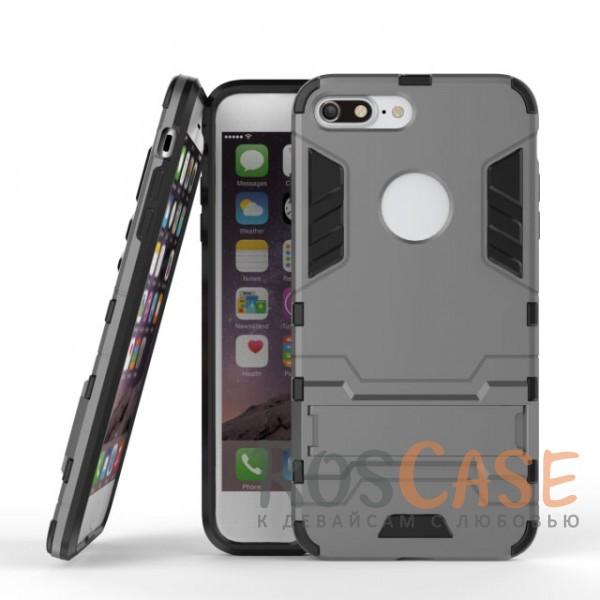 Ударопрочный чехол-подставка Transformer для Apple iPhone 7 plus (5.5) с мощной защитой корпуса (Металл / Gun Metal)Описание:подходит для Apple iPhone 7 plus (5.5);материалы: термополиуретан, поликарбонат;формат: накладка.&amp;nbsp;Особенности:функциональные вырезы;функция подставки;двойная степень защиты;защита от механических повреждений;не скользит в руках.<br><br>Тип: Чехол<br>Бренд: Epik<br>Материал: TPU