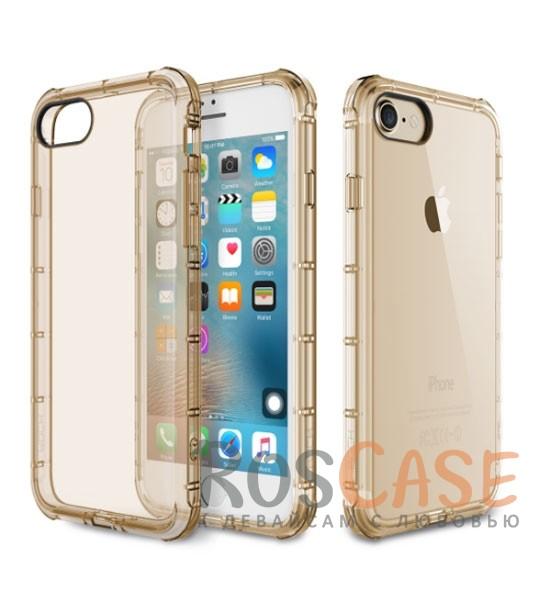 Гибкий прозрачный чехол из прочного силикона для Apple iPhone 7 plus / 8 plus (5.5) (Золотой / Transparent Gold)Описание:производитель  -  Rock;полностью совместим с Apple iPhone 7 plus / 8 plus (5.5);изготовлен из термопластичного полиуретана;имеет форму накладки.Особенности:износостойкий чехол, пыленепроницаемый;гибкий и эластичный, легко снимается и одевается;не склонен к деформированию и выцветанию;точно копирует форму устройства.<br><br>Тип: Чехол<br>Бренд: ROCK<br>Материал: TPU