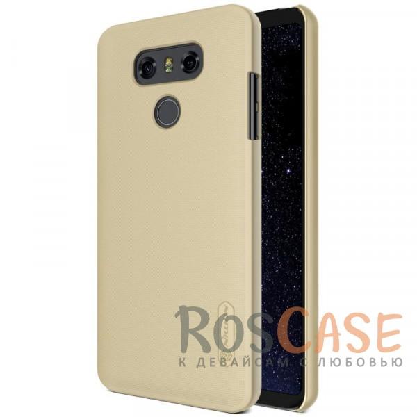 Матовый чехол для LG G6 / G6 Plus H870 / H870DS (+ пленка) (Золотой)Описание:бренд&amp;nbsp;Nillkin;совместим с LG G6 / G6 Plus H870 / H870DS;материал: поликарбонат;рельефная фактура;тип: накладка;в наличии все функциональные вырезы;закрывает заднюю панель и боковые грани;не скользит в руках;защищает от ударов и царапин.<br><br>Тип: Чехол<br>Бренд: Nillkin<br>Материал: Поликарбонат