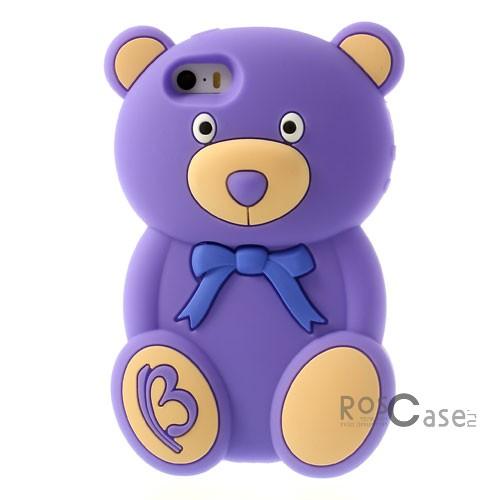 фото силиконовый чехол TEDDY BEAR для Apple iPhone 5/5S/5SE