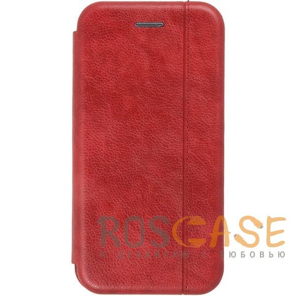 Open Color 2 | Чехол-книжка на магните для Huawei Honor Play с подставкой и внутренним карманом (Красный)