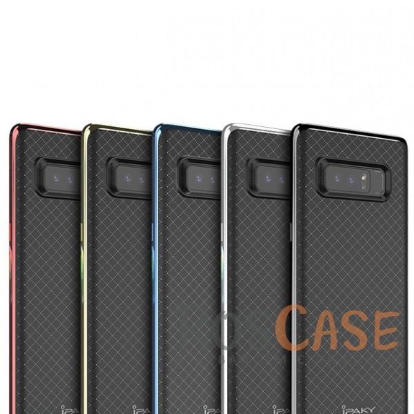Двухкомпонентный чехол iPaky (original) Hybrid со вставкой цвета металлик для Samsung Galaxy Note 8Описание:совместимость - Samsung Galaxy Note 8;бренд - iPaky;материал - поликарбонат, термополиуретан;тип - накладка;прочная структура из двух элементов;на чехле не заметны отпечатки пальцев;предусмотрены все функциональные вырезы.<br><br>Тип: Чехол<br>Бренд: iPaky<br>Материал: Поликарбонат