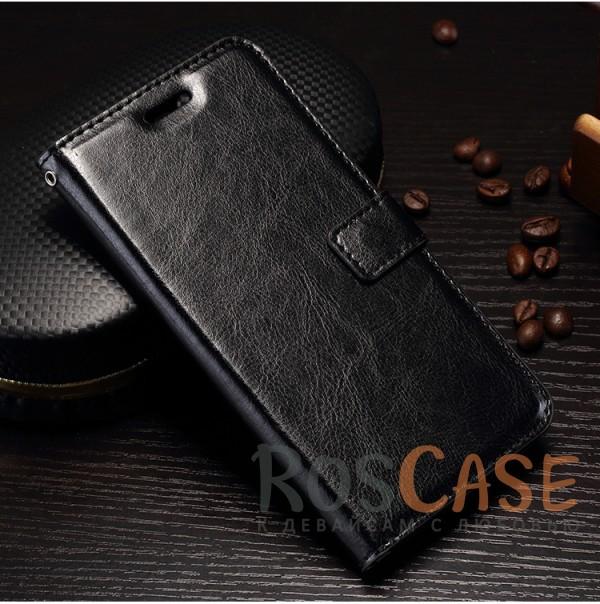 Гладкий кожаный чехол-бумажник на магнитной застежке Wallet с функцией подставки и внутренними карманами для OnePlus 5 (Черный)Описание:совместим с OnePlus 5;материалы  -  искусственная кожа, TPU;форма  -  чехол-книжка;фактурная поверхность;предусмотрены все функциональные вырезы;кармашки для визиток/кредитных карт/купюр;магнитная застежка;защита от механических повреждений.<br><br>Тип: Чехол<br>Бренд: Epik<br>Материал: Искусственная кожа