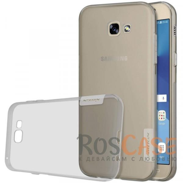 Мягкий прозрачный силиконовый чехол для Samsung A320 Galaxy A3 (2017) (Серый (прозрачный))Описание:бренд:&amp;nbsp;Nillkin;совместимость: Samsung A320 Galaxy A3 (2017);материал: термополиуретан;тип: накладка;ультратонкий дизайн;прозрачный корпус;не скользит в руках;защищает от механических повреждений.<br><br>Тип: Чехол<br>Бренд: Nillkin<br>Материал: TPU