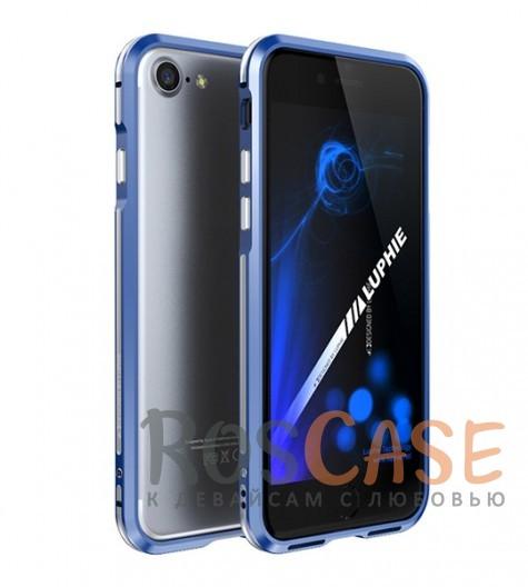 Алюминиевый бампер Luphie Blade Sword для Apple iPhone 7 (4.7) (Синий / Серебряный)Описание:бренд -&amp;nbsp;Luphie;материал - алюминий;совместим с Apple iPhone 7 (4.7);тип - бампер.Особенности:двухцветный дизайн;усиливает звук;прочный алюминий;в наличии все вырезы;ультратонкий дизайн;защита граней от ударов и царапин.<br><br>Тип: Чехол<br>Бренд: Luphie<br>Материал: Металл