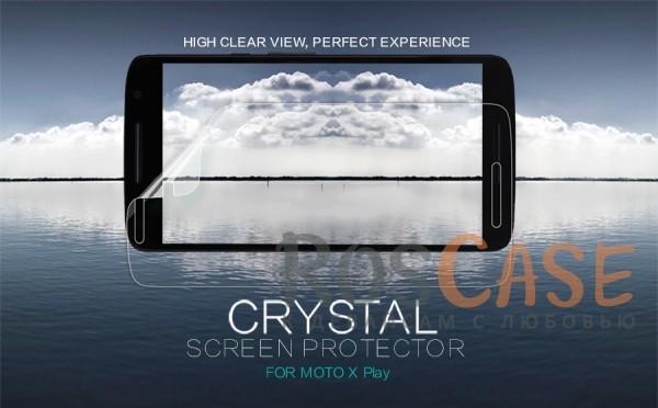 Защитная пленка Nillkin Crystal для Motorola Moto X Play (XT1562)Описание:бренд:&amp;nbsp;Nillkin;разработана для Motorola Moto X Play (XT1562);материал: полимер;тип: защитная пленка.&amp;nbsp;Особенности:имеет все функциональные вырезы;прозрачная;анти-отпечатки;не влияет на чувствительность сенсора;защита от потертостей и царапин;не оставляет следов на экране при удалении;ультратонкая.<br><br>Тип: Защитная пленка<br>Бренд: Nillkin