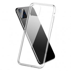 Тонкий силиконовый прозрачный чехол для iPhone 11