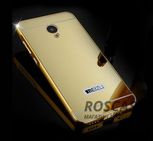 Чехол-накладка Mirror для Meizu M2 / M2 mini (Золотой)Описание:компания-производитель:&amp;nbsp;Epik;совместим с Meizu M2 / M2 mini;материал: металл, пластик;форма: накладка.&amp;nbsp;Особенности:ультратонкое исполнение;зеркальная поверхность;полный набор функциональных вырезов;высокий уровень защиты;плотное прилегание;надежная фиксация.<br><br>Тип: Чехол<br>Бренд: Epik<br>Материал: Натуральная кожа