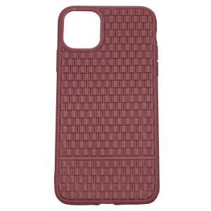 Рельефный силиконовый чехол Плетение  для Apple iPhone 11 Pro Max
